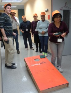 Turning Point Winter Games 2015 - Team Iguanodon at Cornhole - photo by Jennifer Sultz